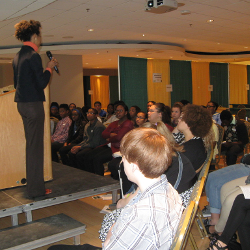 Dr. Johnson speaking at College II Career event