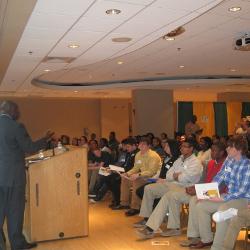 Dr. Brown speaks at College II Career