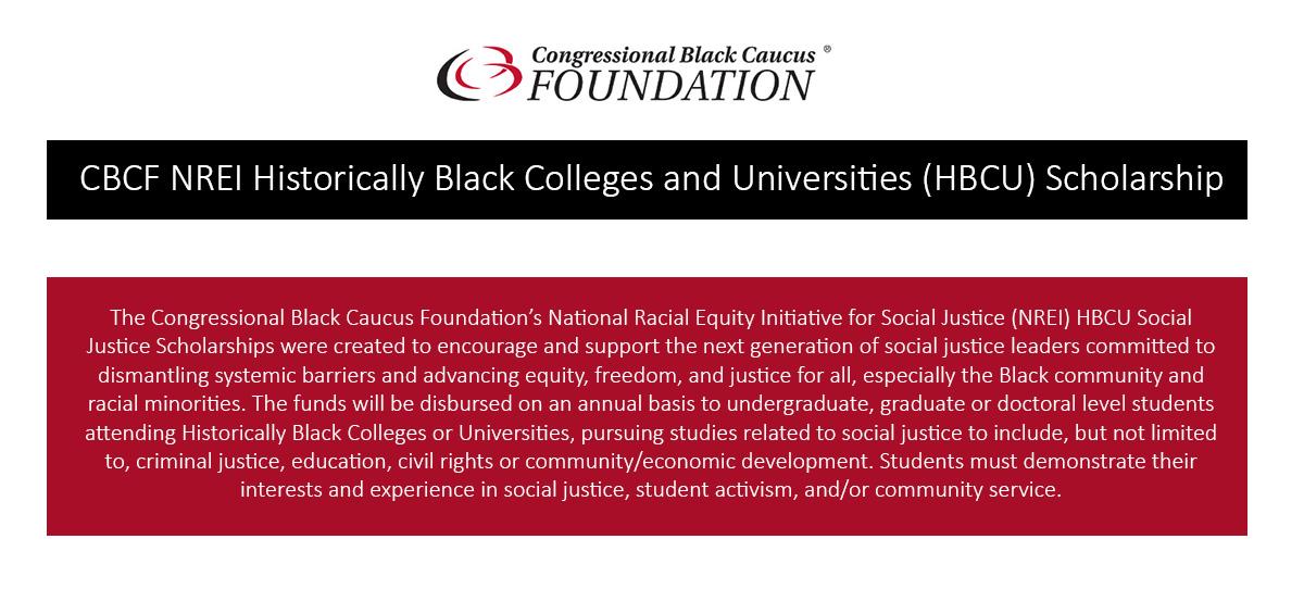 Congressional Black Caucus Foundation HBCU Scholarship