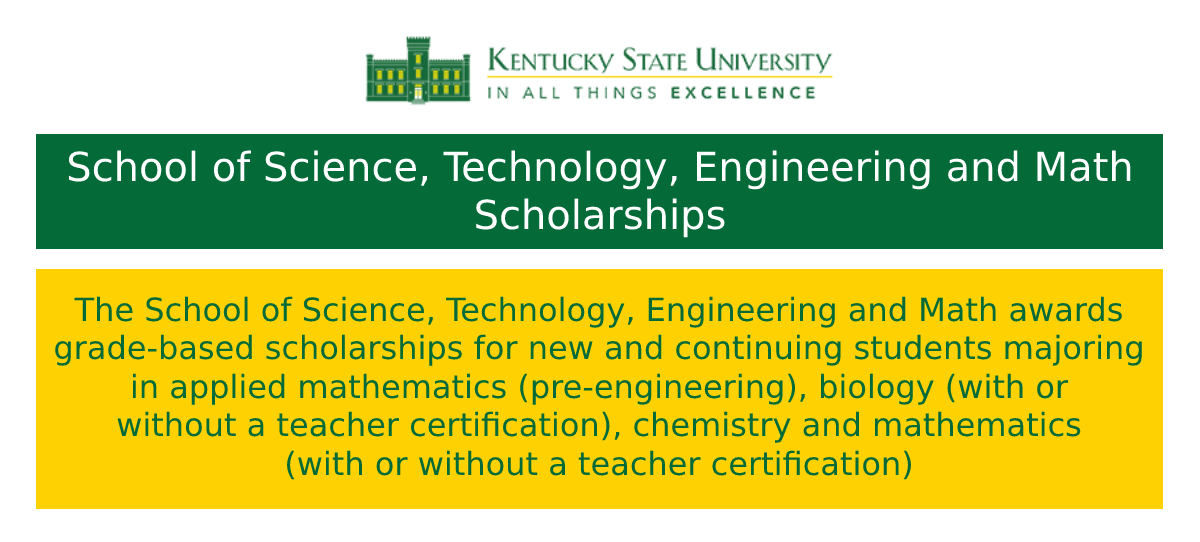 School of Science, Technology, Engineering and Math Scholarships