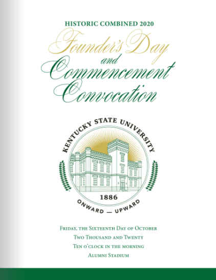 2020 Founder's Day and Commencement Convocation program