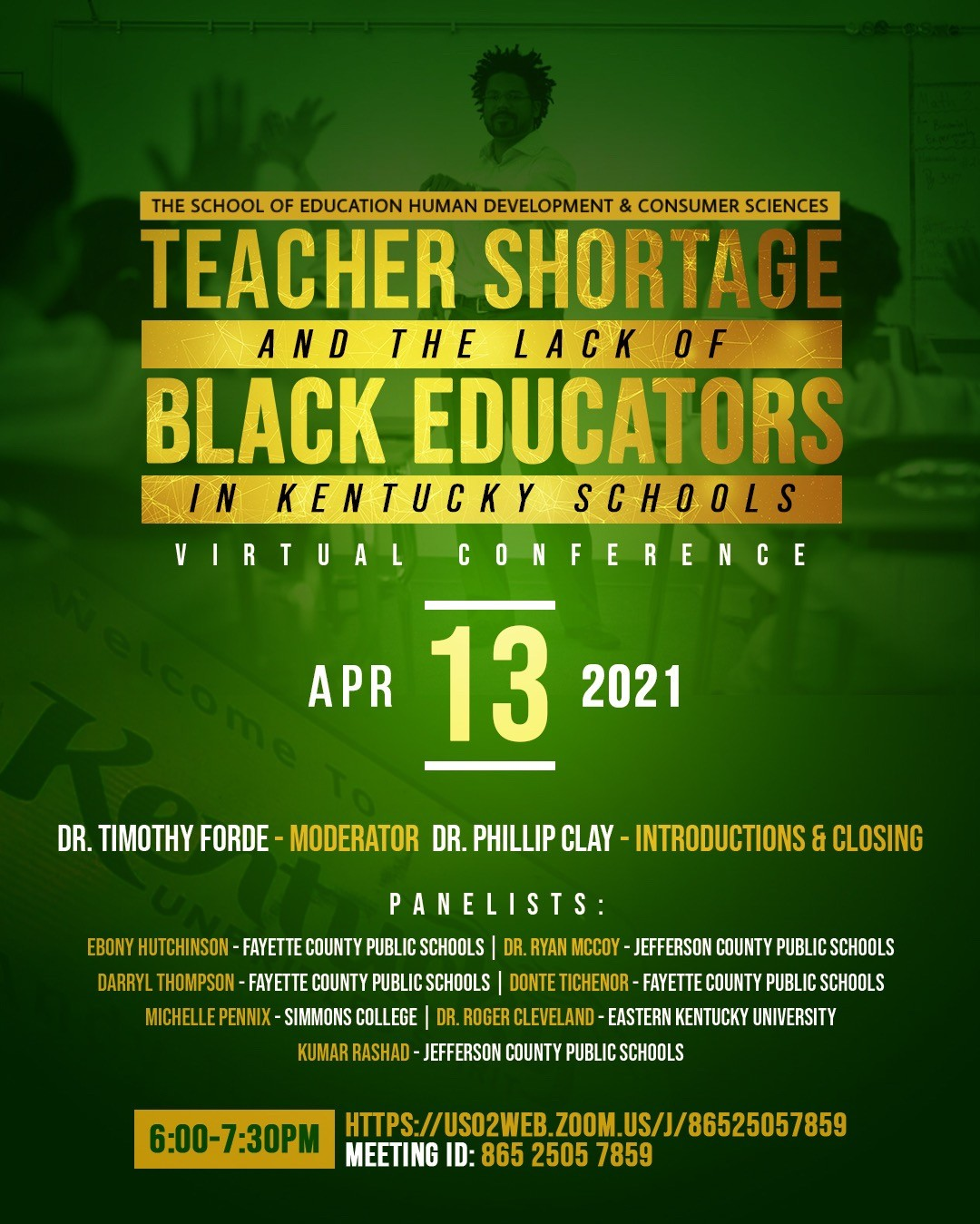 Teacher Shortage and the Lack of Black Educators in Kentucky Schools virtual conference