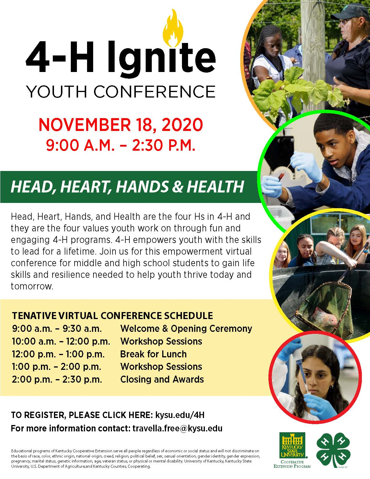 Flyer for 4-H Ignite