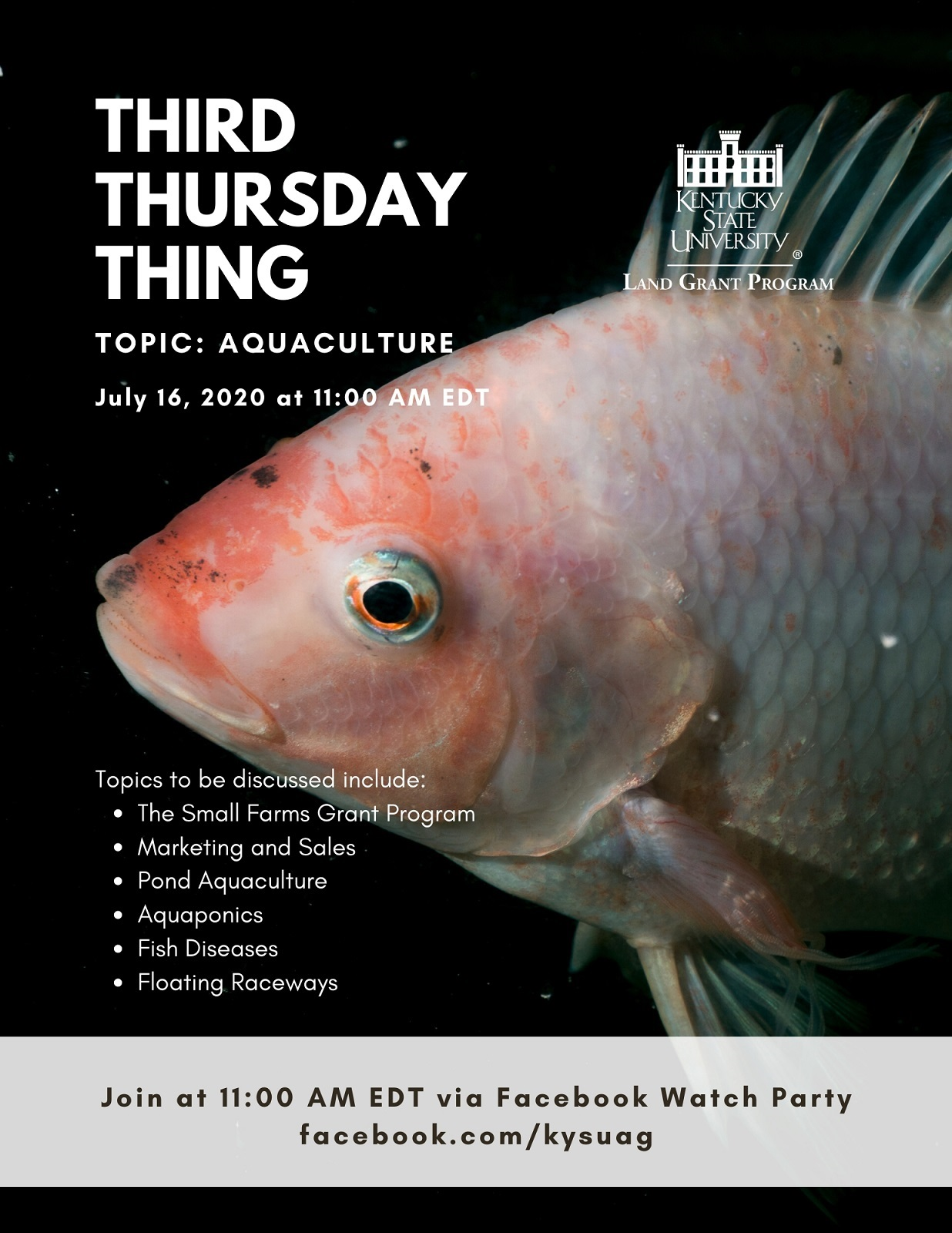Third Thursday Thing Topic Aquaculture - July 16 2020