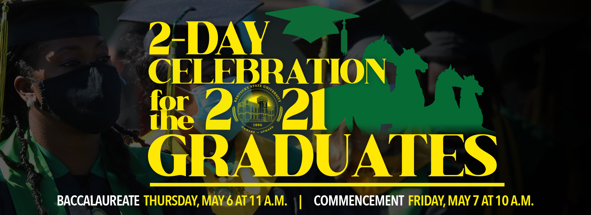 Spring Commencement 2021 homepage graphic