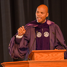 Graduates reflected on their academic journey through a pandemic during the Spring 2021 Baccalaureate Assembly