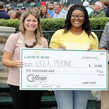 Kentucky State University student won a $10,000 scholarship at Keeneland