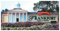 Frankfort Welcome Sign