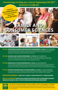 Certificate in Family and Consumer Sciences