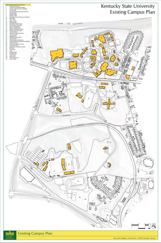 Campus Map Kentucky State University - Map kentucky