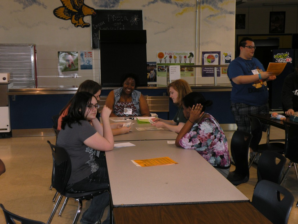 AWA Student Volunteer for Poverty Simulation FCHS