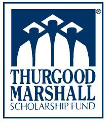 Thurgood Marshall College Fund logo is there students graduating