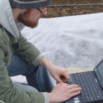 Downloading and analyzing temperature readings collected by a datalogger at the KSU Research and Demonstration Farm.