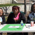 Educational table during an Earth Day event in front of KSU's Student Center.