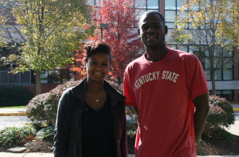 Kentucky State University junior Olivia Burkett, KSU senior Richard Jackson