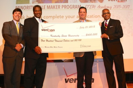 Photo - Verizon Minority Male Maker Check Presentation to KSU