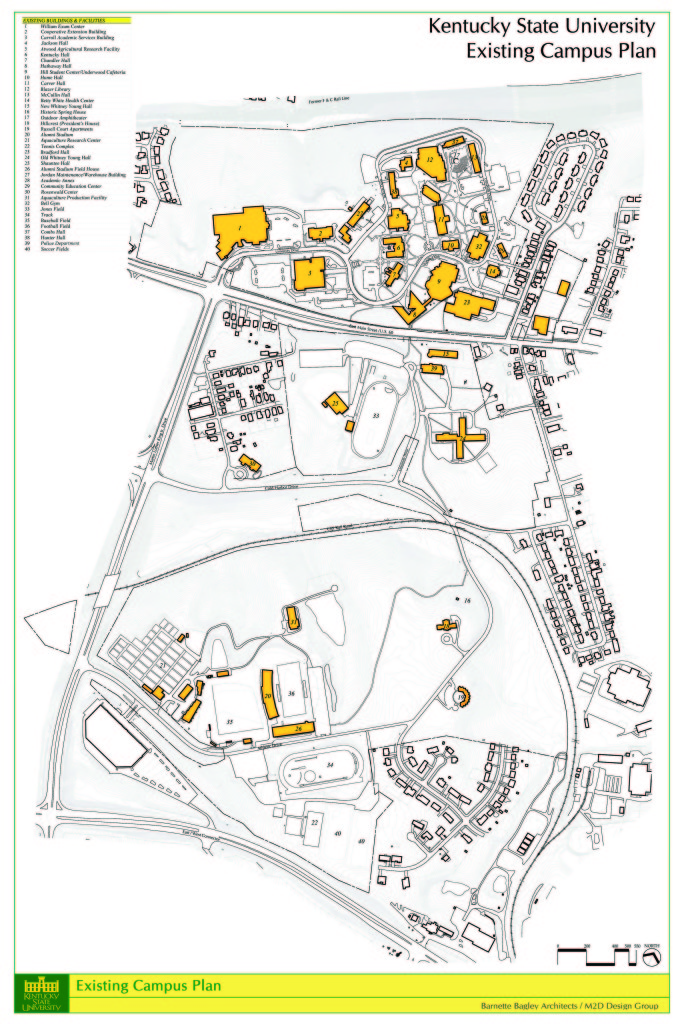 Campus Map Kentucky State University - Ky state map
