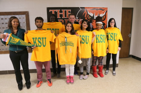 Fern Creek High School students pose with KSU gear