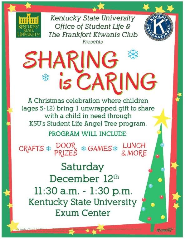 ksu and the frankfort kiwanis club will hold sharing is caring  ksu and the frankfort kiwanis club will hold sharing is caring
