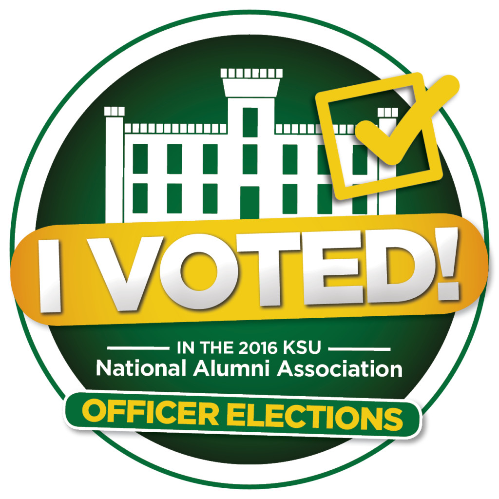 I voted in the 2016 KSU National Alumni Association Officer Elections!
