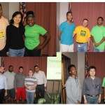 Graduating apprentices and their mentors