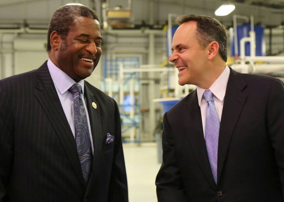 Gov. Matt Bevin and State Budget Director John Chilton visit KSU