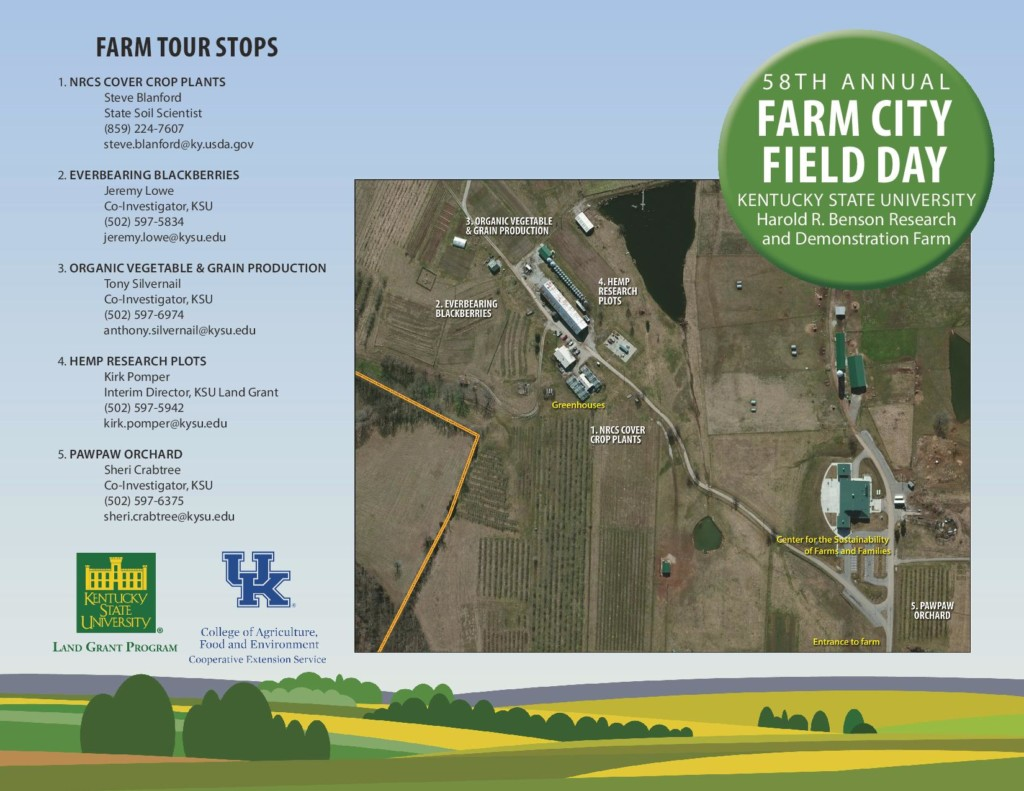 Kentucky State University Research and Demonstration Farm is the site for Farm City Field Day