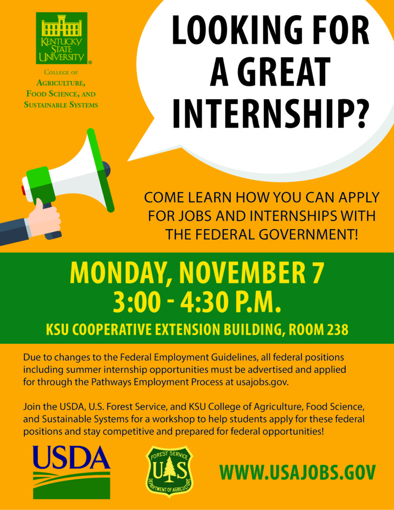 Ksu Offers Workshop To Apply For Federal Internships And