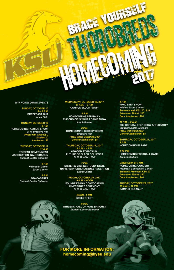 Kentucky Homecoming University State 2017 Announces