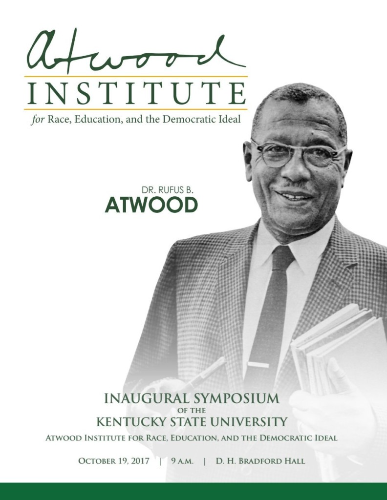 Inaugural Symposium of the Kentucky State University Atwood ...