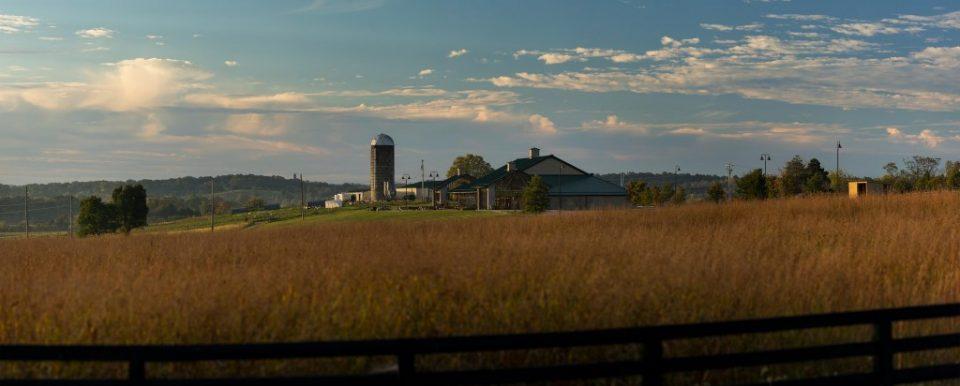 Farm house and field