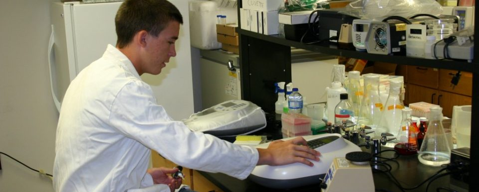 Student in Lab Representing Stem Education