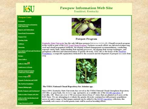 Pawpaw Information Web Site - Picture of Slide 3