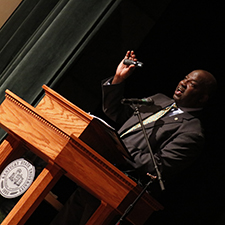 Kentucky State University president updates the campus community during the State of the University address