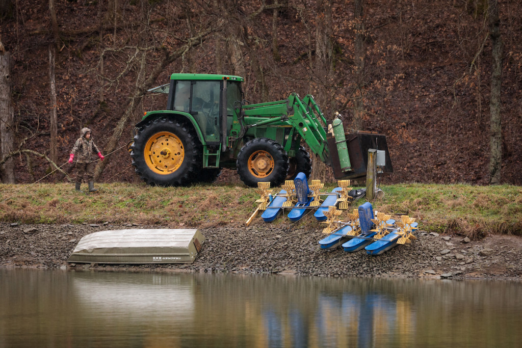 COX'S CREEK, Ky., - Robert Mayer and his family own Mayer Fish Farm they were photographed for the 2019 AgKnowledge Magazine, Wednesday, Jan. 23, 2019 at the Mayer Fish Farm in COX'S CREEK.