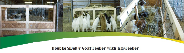 Picture of Double Side Goat Feeder with Hayfeeder