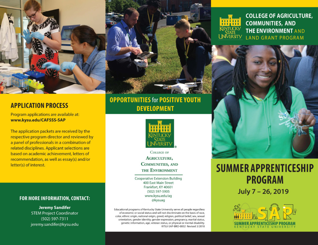 Summer Apprenticeship Program | Kentucky State University