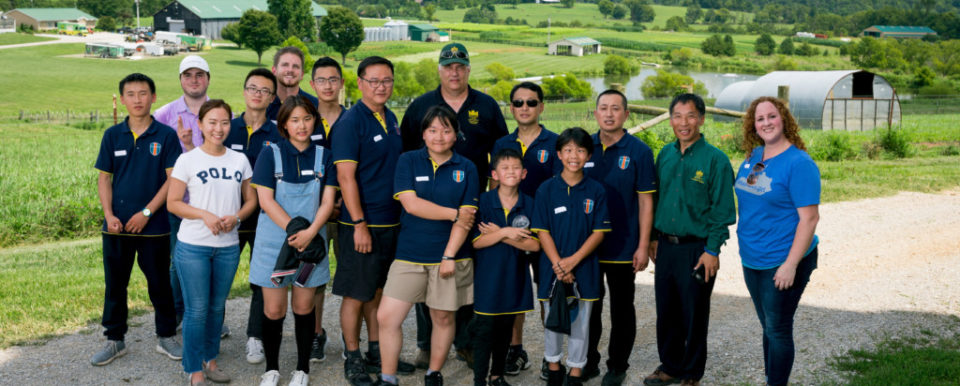 Picture of students from Pollard International School at Benson Farm