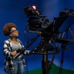 Agriculture-Communications - Women in a recording studio