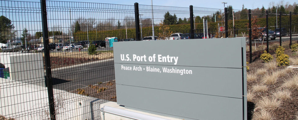 Sign of US Port of Entry