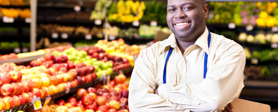 Food Systems - Man in grocery store