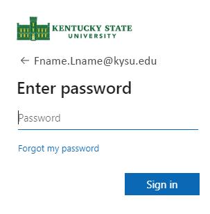 Reset Password Screen 1