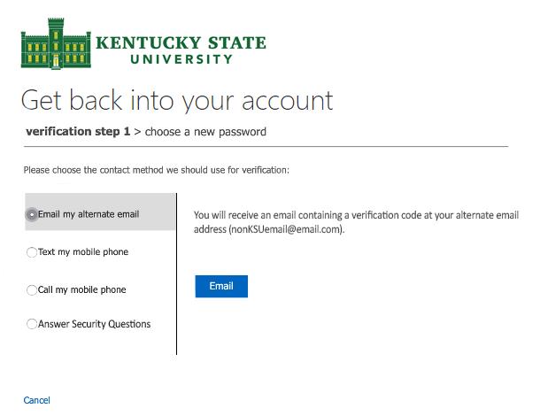 Reset Password Screen 3