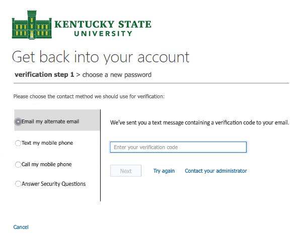 Reset Password Screen 4