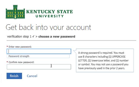Reset Password Screen 5
