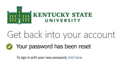 Reset Password Screen 6