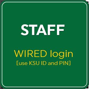 Staff WIRED login square button