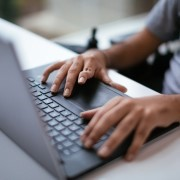 Search & Apply for Jobs keyboard and hands